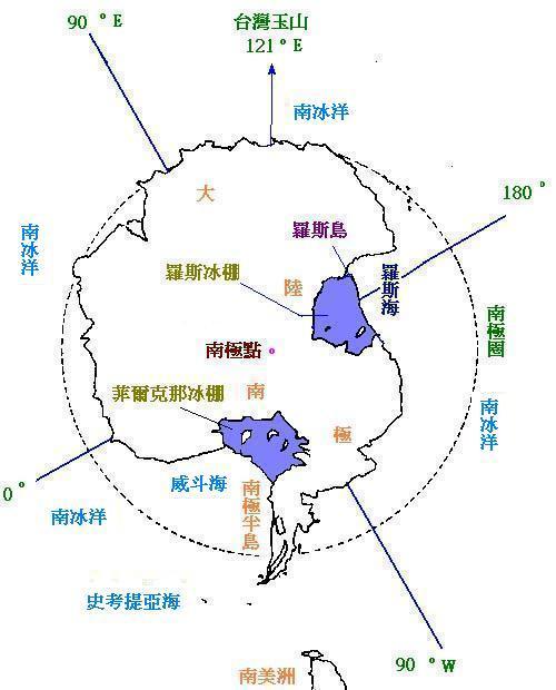 南极大陆地图高清图片